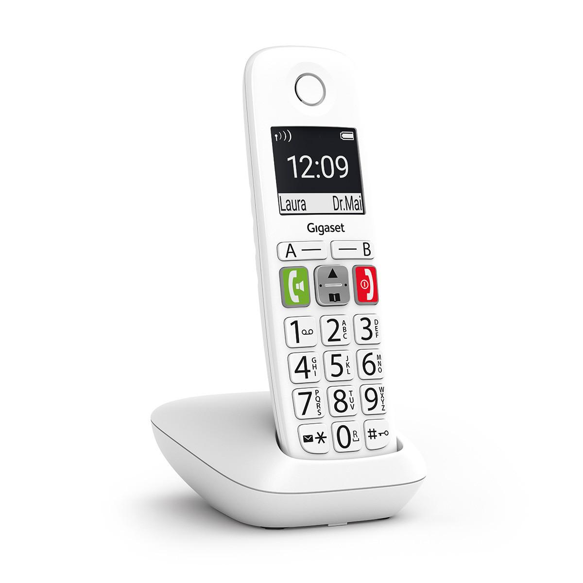 T/él/éphone fixe clavier /à grosses touches chiffres Ecran r/étro-/éclair/é