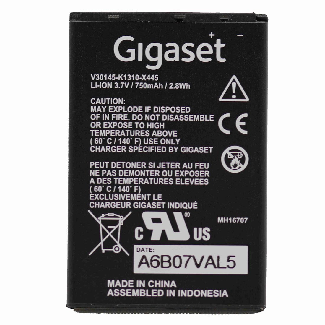 Original Battery for Gigaset SL400H / SL78H / SL450H