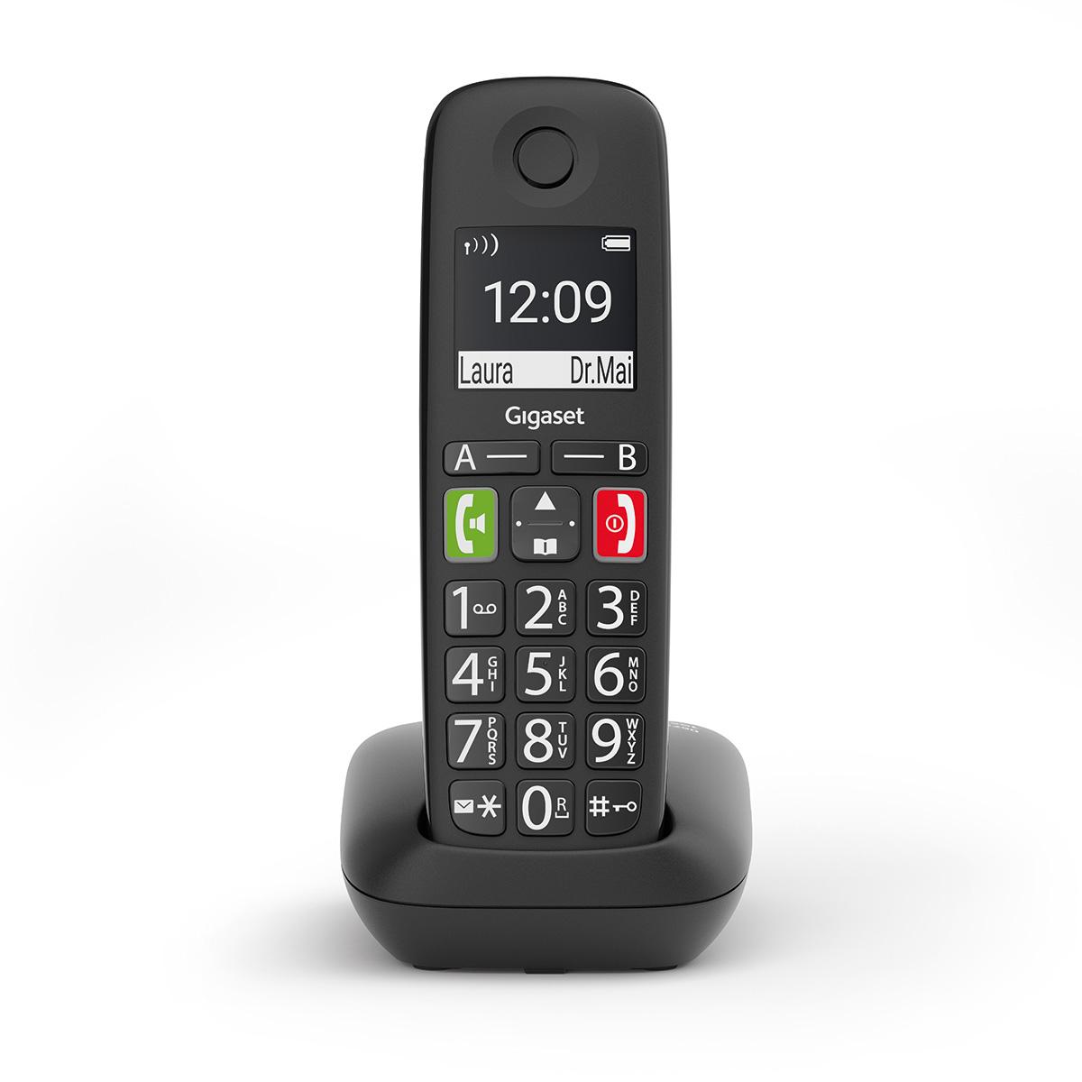 schwarz IP-Telefon Fritzbox kompatibel, mit Farbdisplay, Komfort-Telefon mit gro/ßer Nummernanzeige, einfache Bedienung - Adressbuch Gigaset C570HX schnurloses Telefon